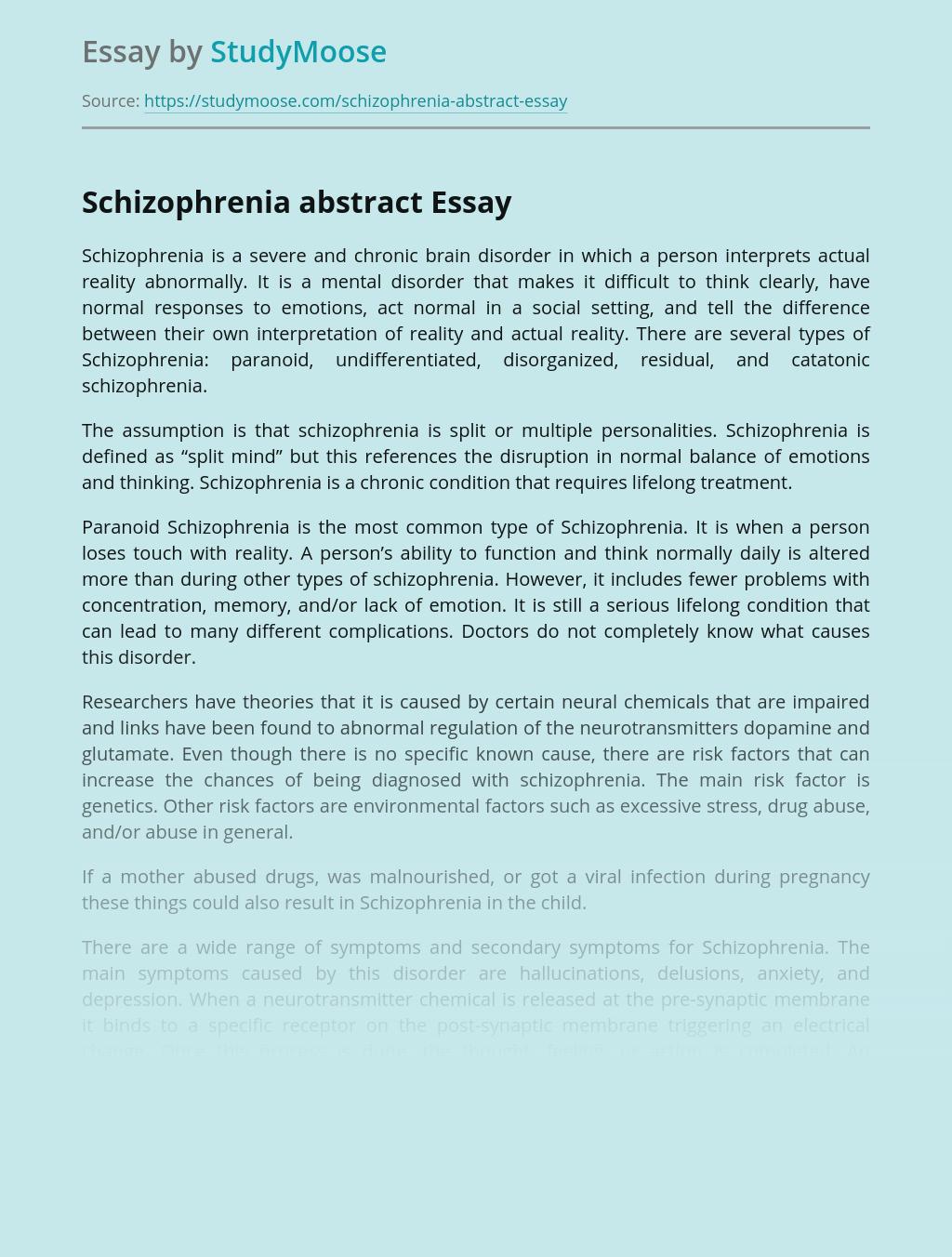 Sample essays on schizophrenia esl phd creative essay assistance