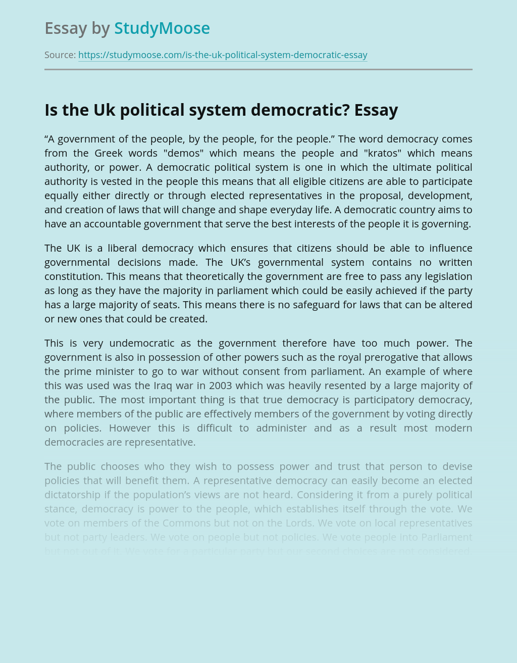 Is The Britain Truly Democratic?