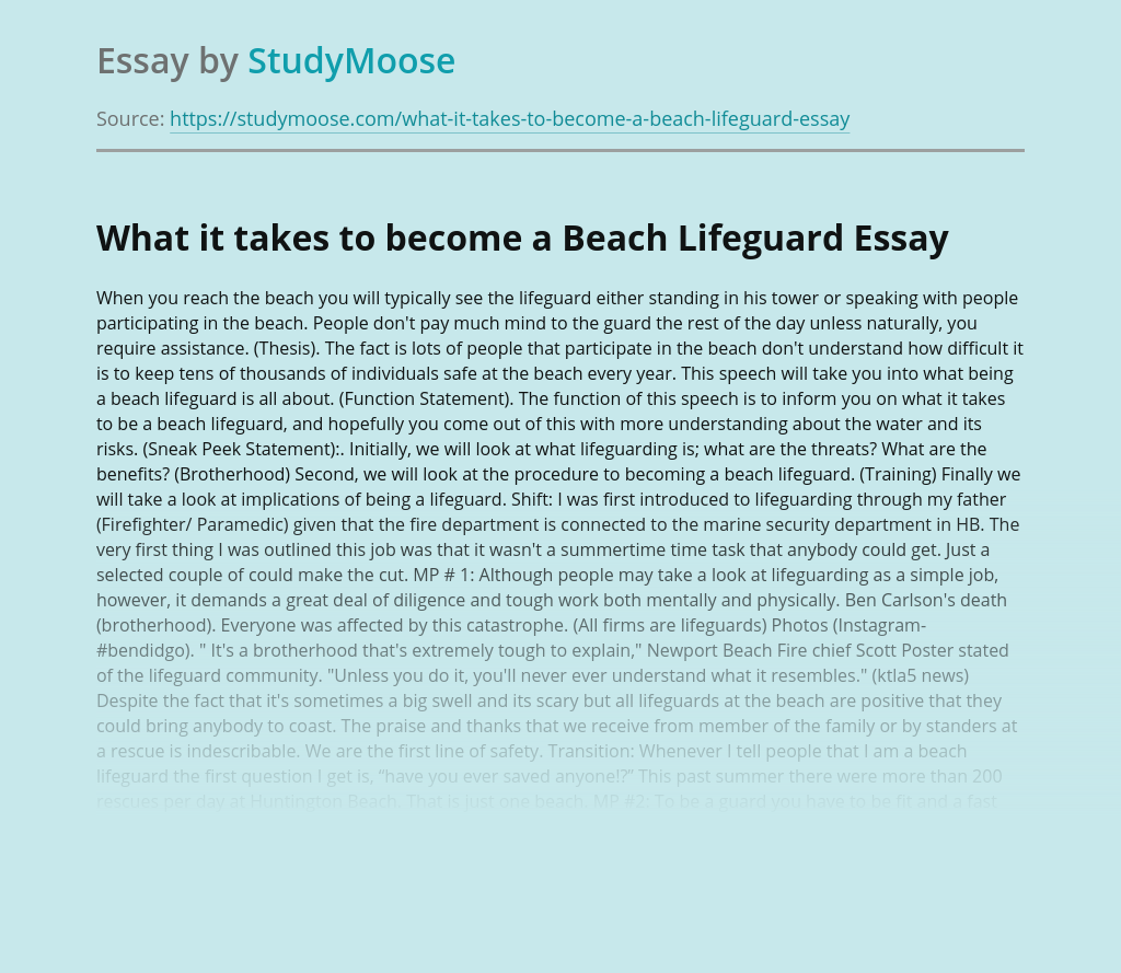What It Takes to Become a Beach Lifeguard