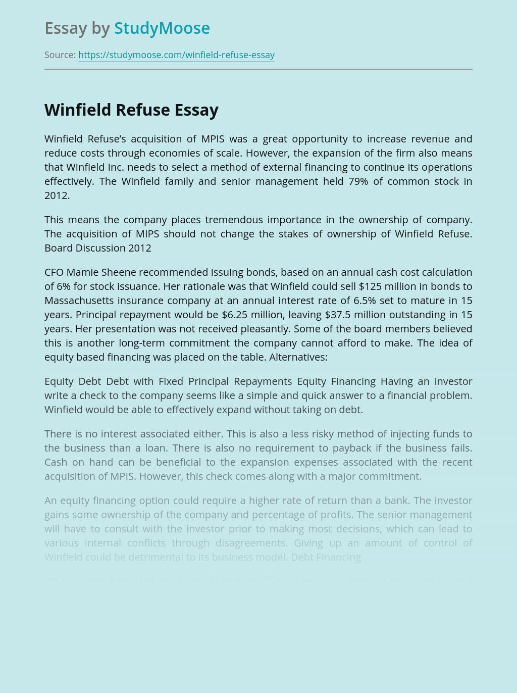 Winfield Refuse