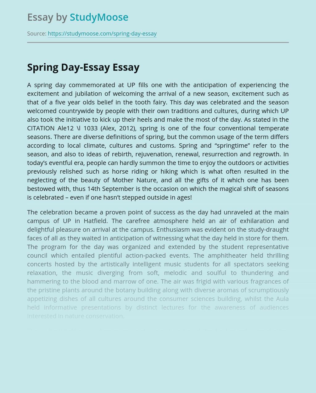 Spring Day-Essay
