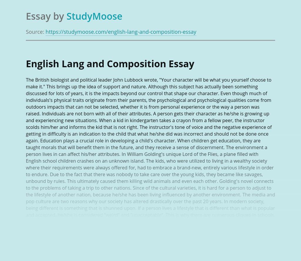 English Lang and Composition