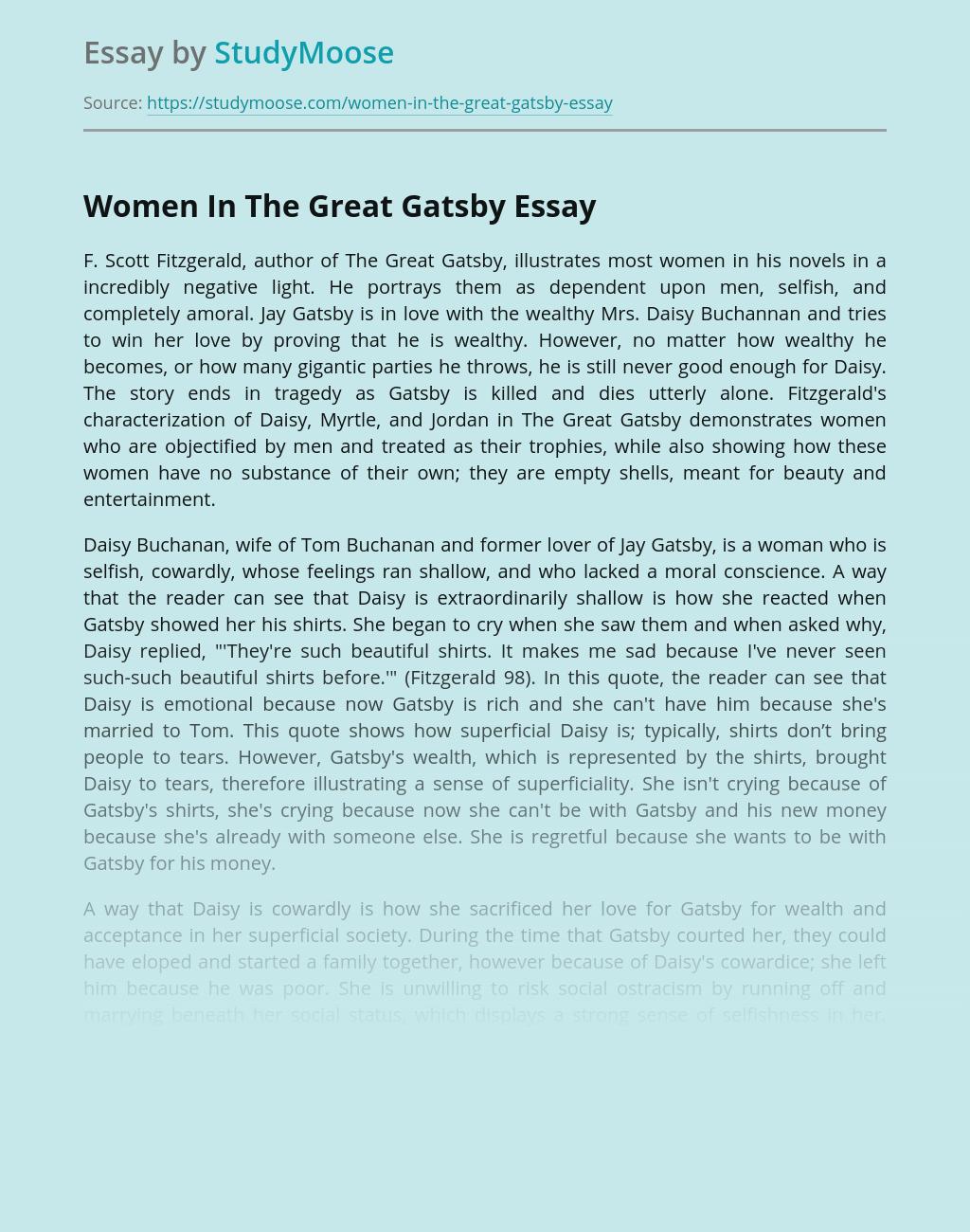 Women In The Great Gatsby