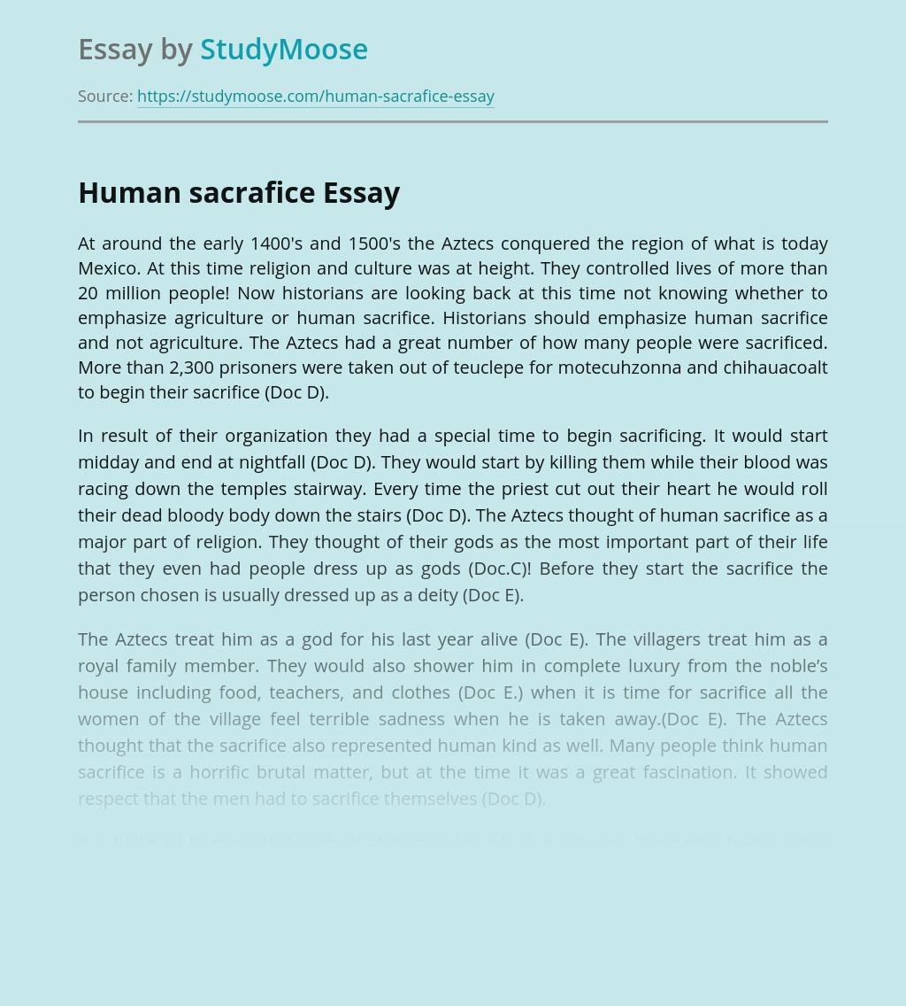 Human sacrafice