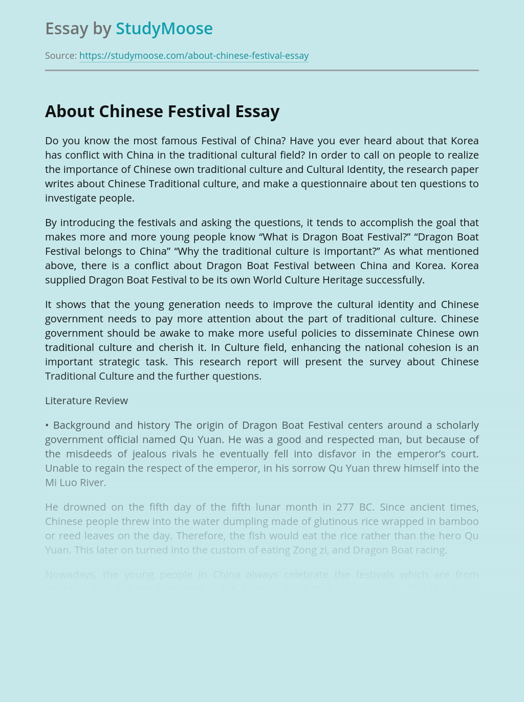 About Chinese Festival
