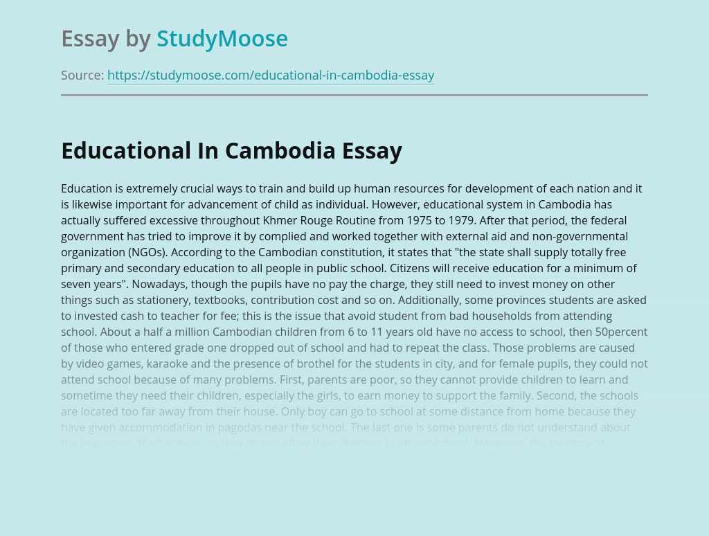 Educational In Cambodia