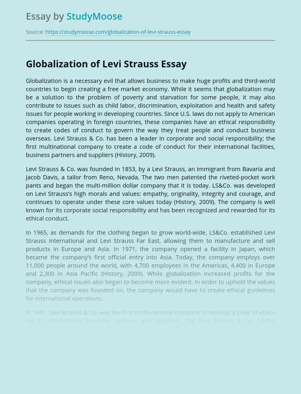 Globalization of Levi Strauss