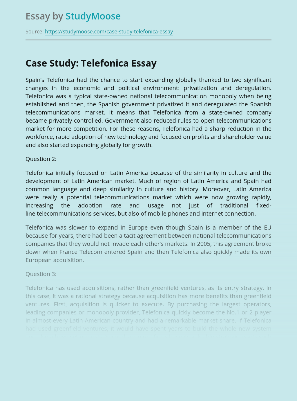 Case Study: Telefonica