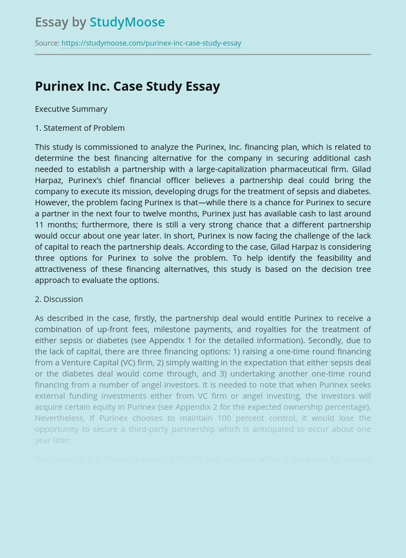 Purinex Inc. Case Study