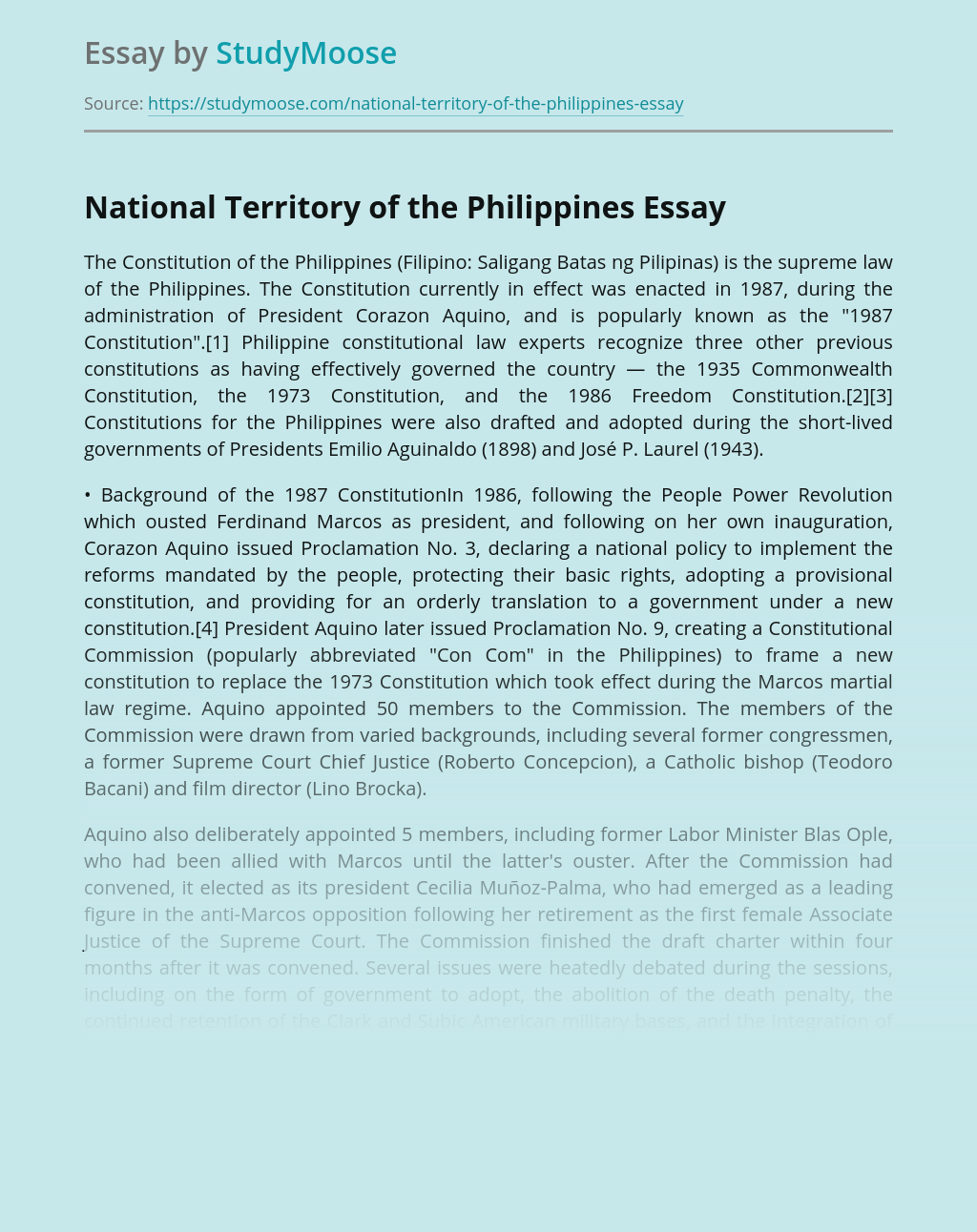 National Territory of the Philippines