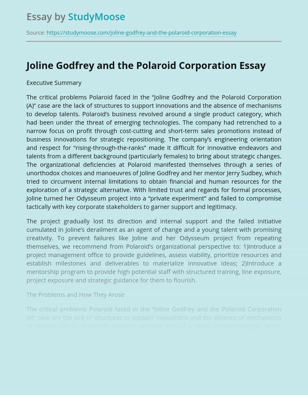 Joline Godfrey and the Polaroid Corporation