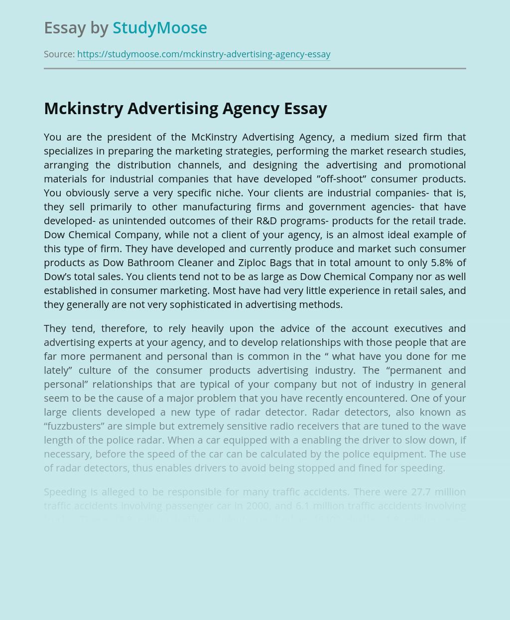 Mckinstry Advertising Agency