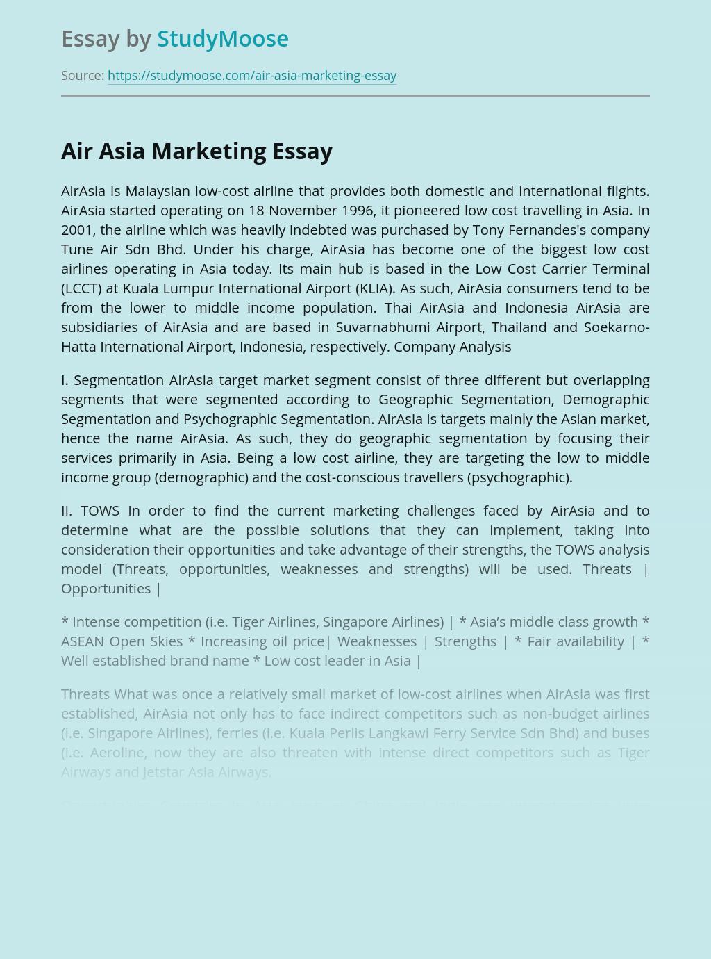 Air Asia Marketing