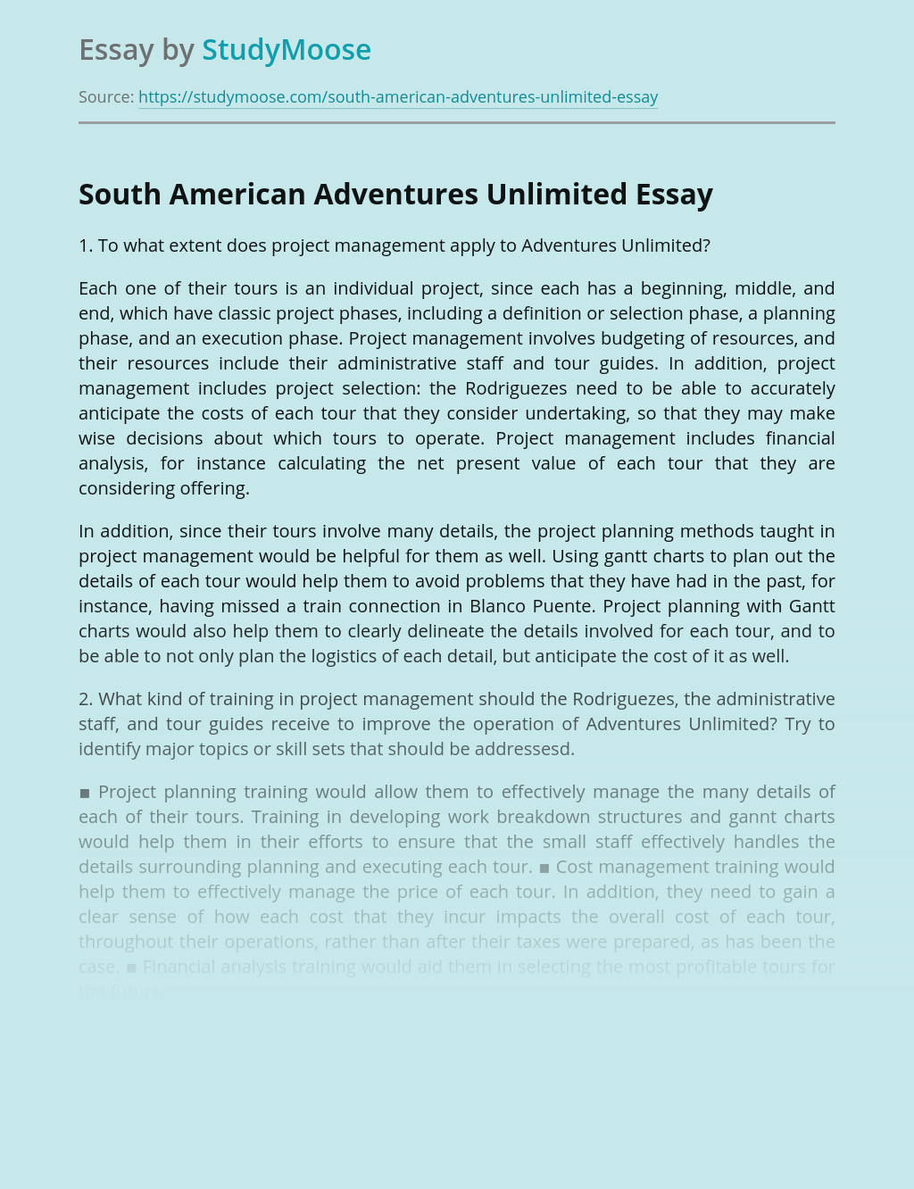 South American Adventures Unlimited