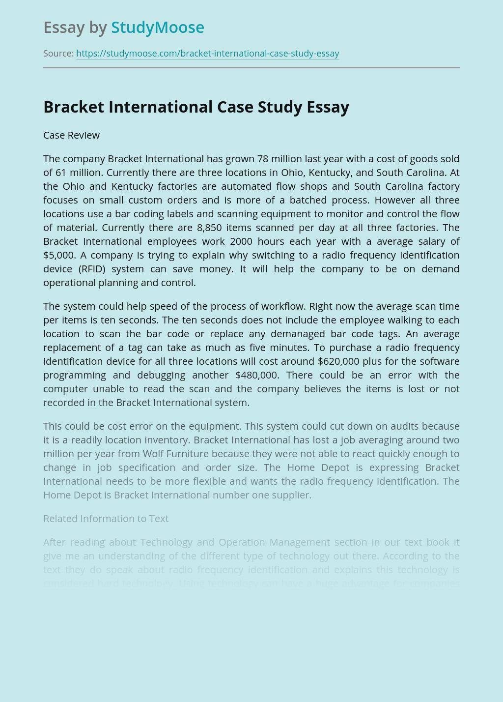 Bracket International Case Study