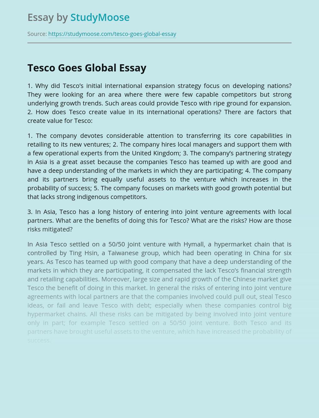 Tesco Goes Global