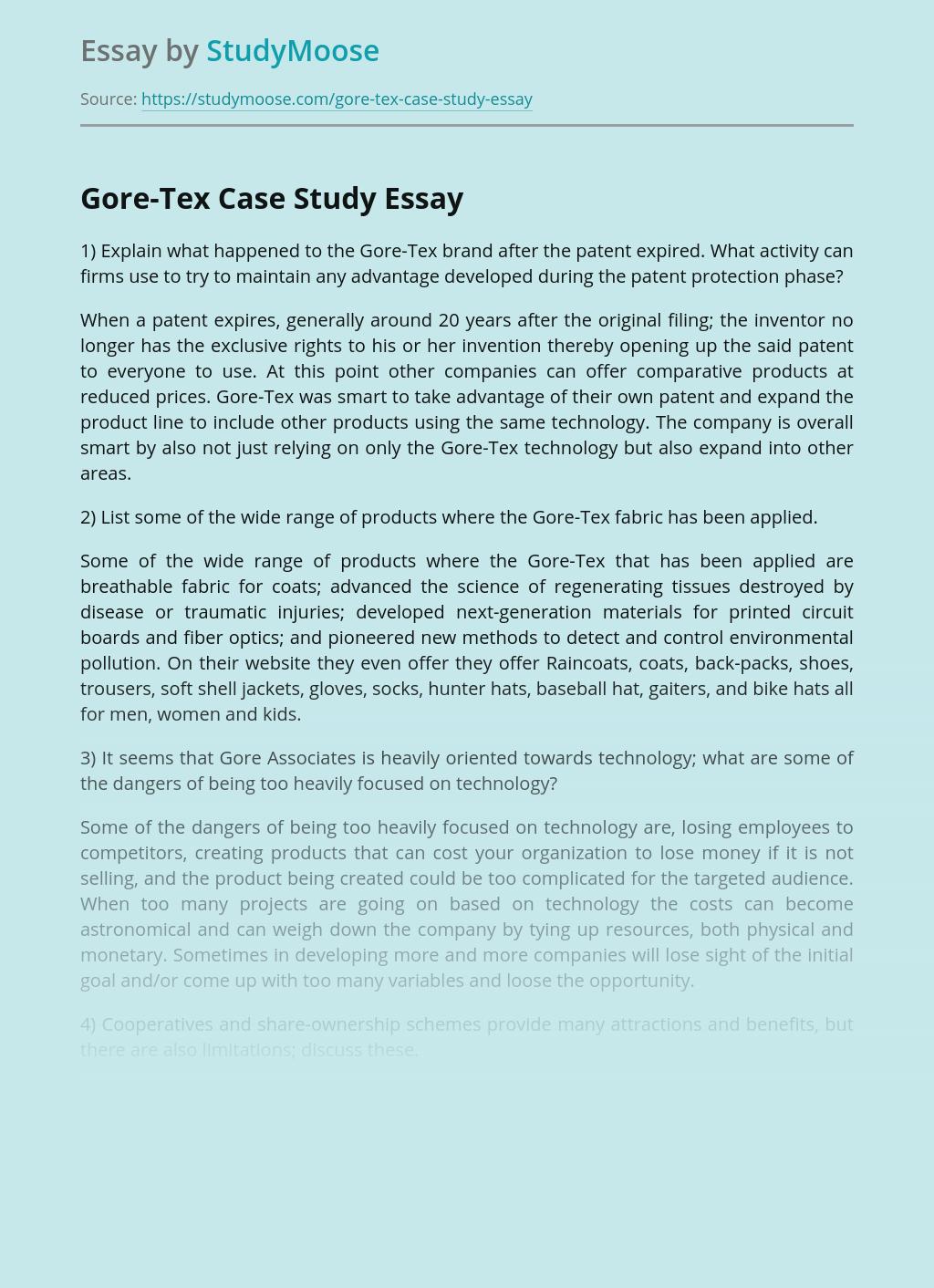 Gore-Tex Case Study
