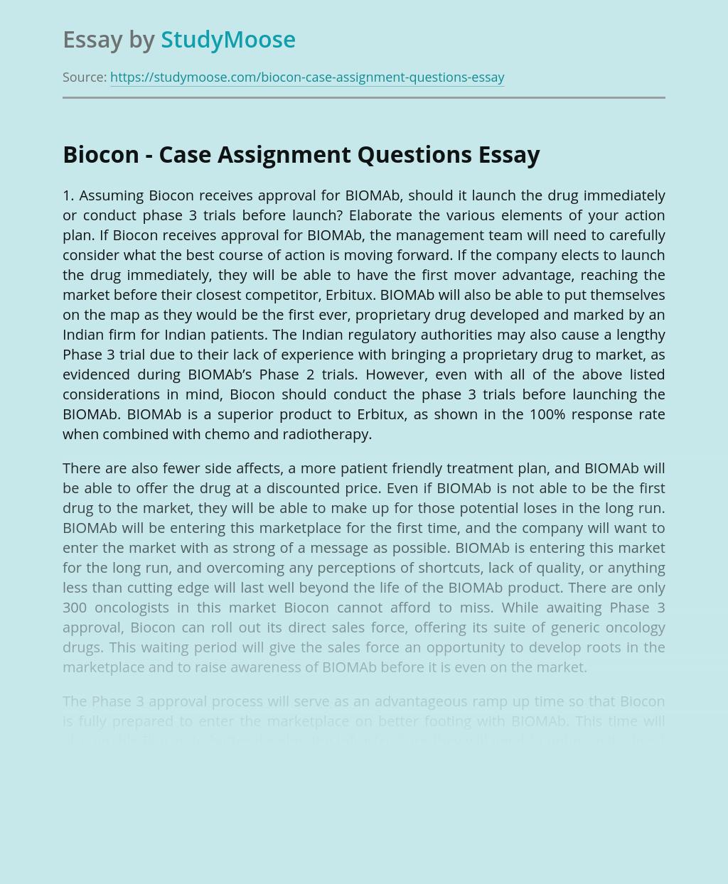 Biocon's Next Management Strategy