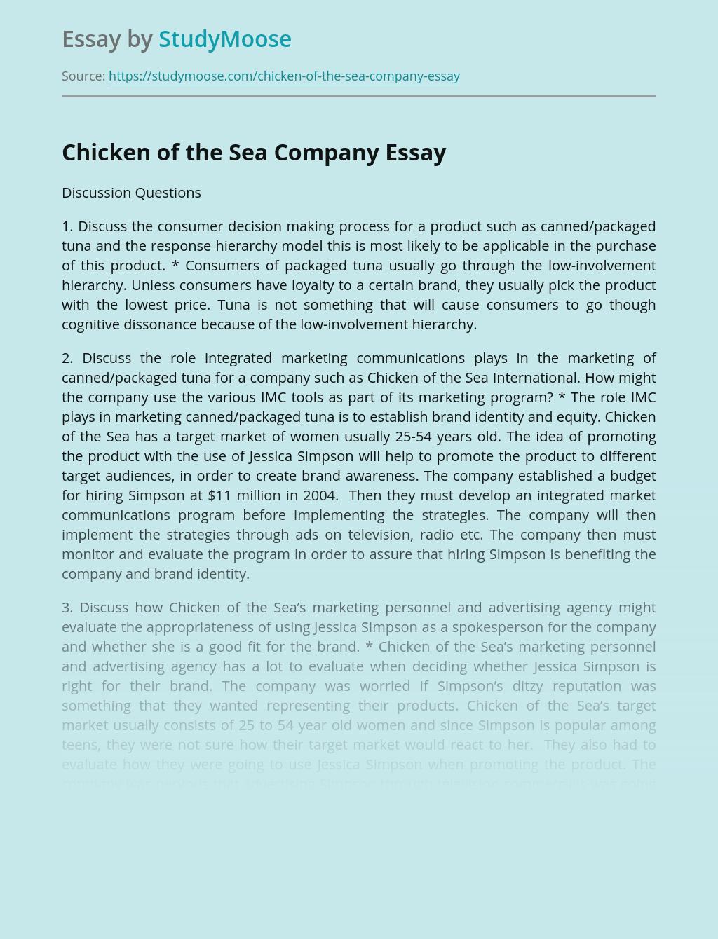 Chicken of the Sea Company