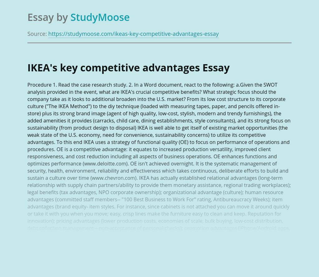 Key Competitive Advantages of IKEA Company