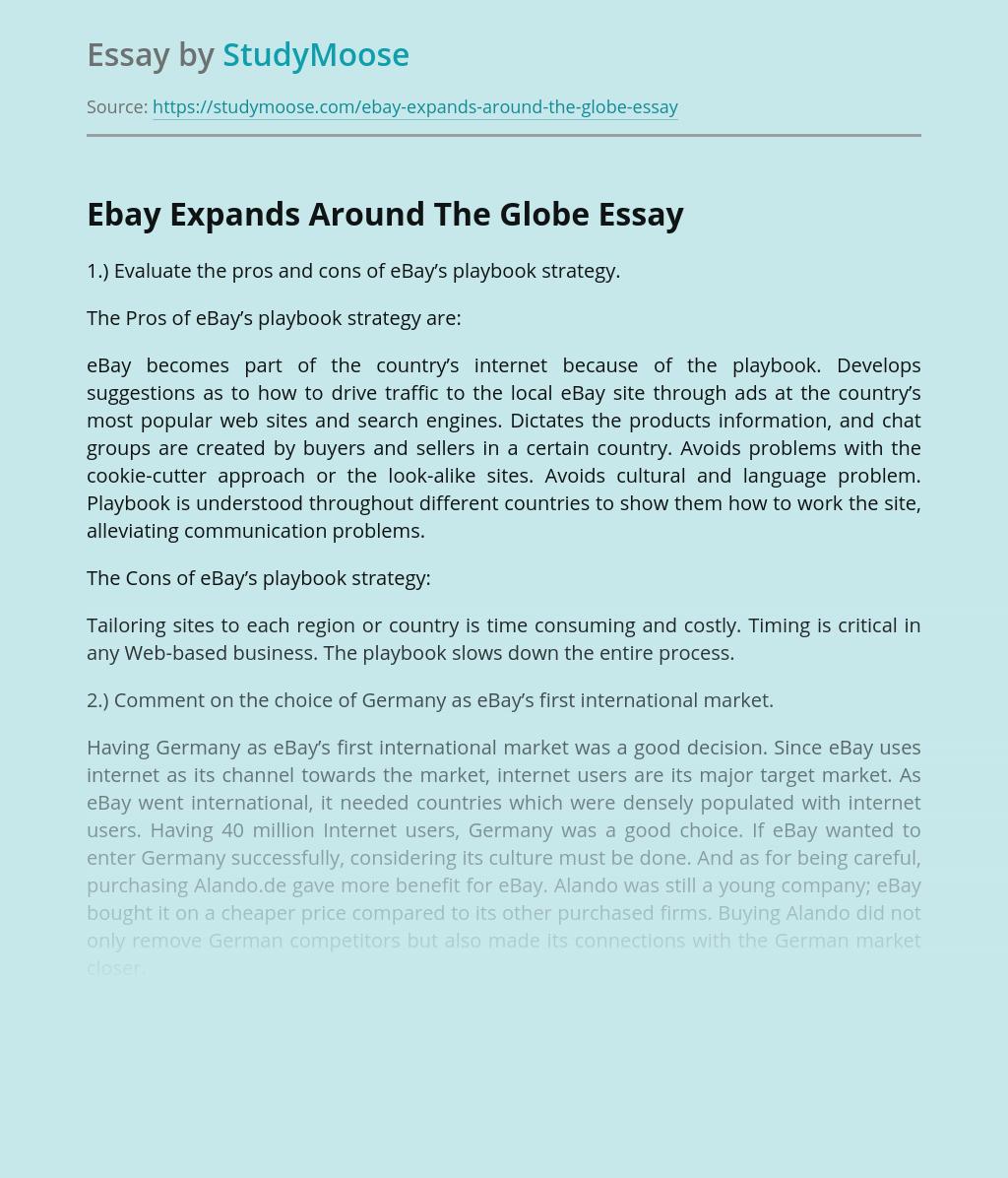 Ebay Expands Around The Globe