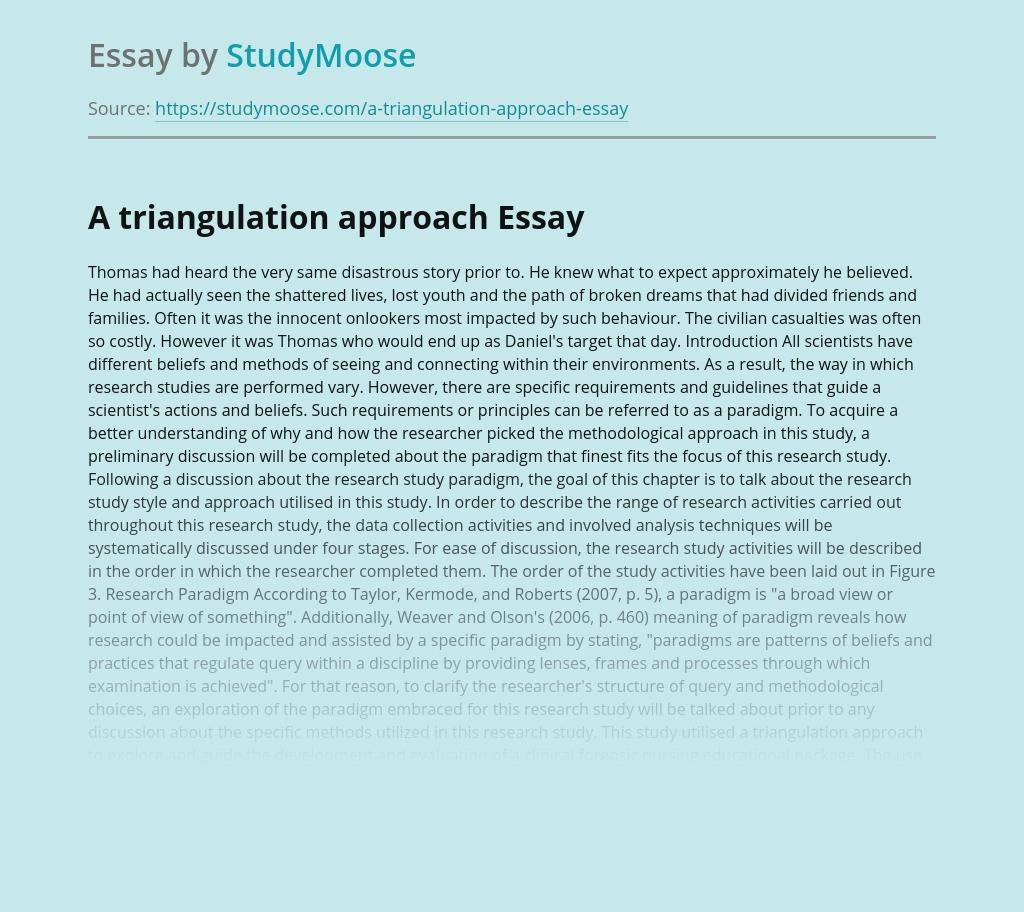 A triangulation approach