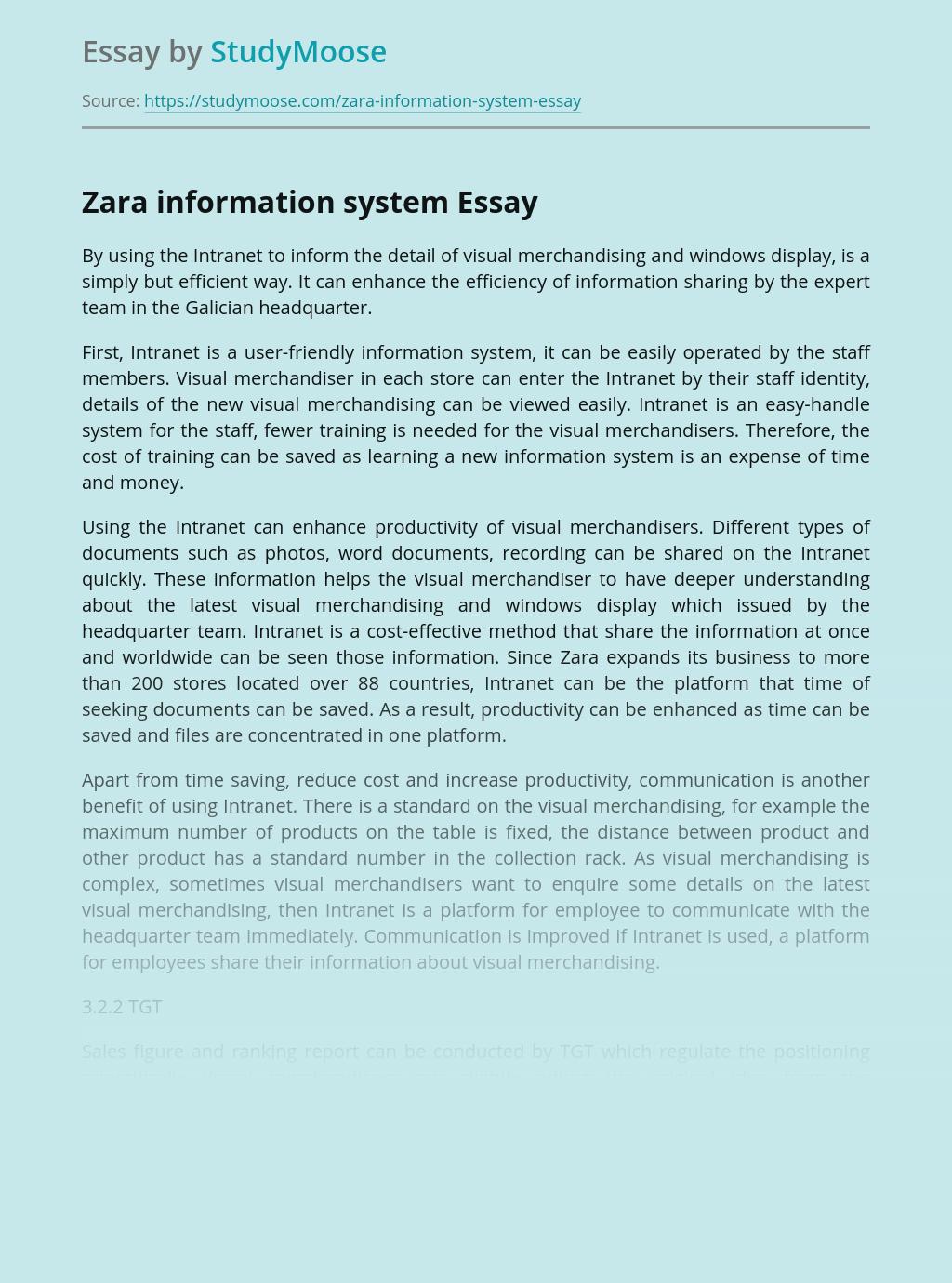 Zara Information System