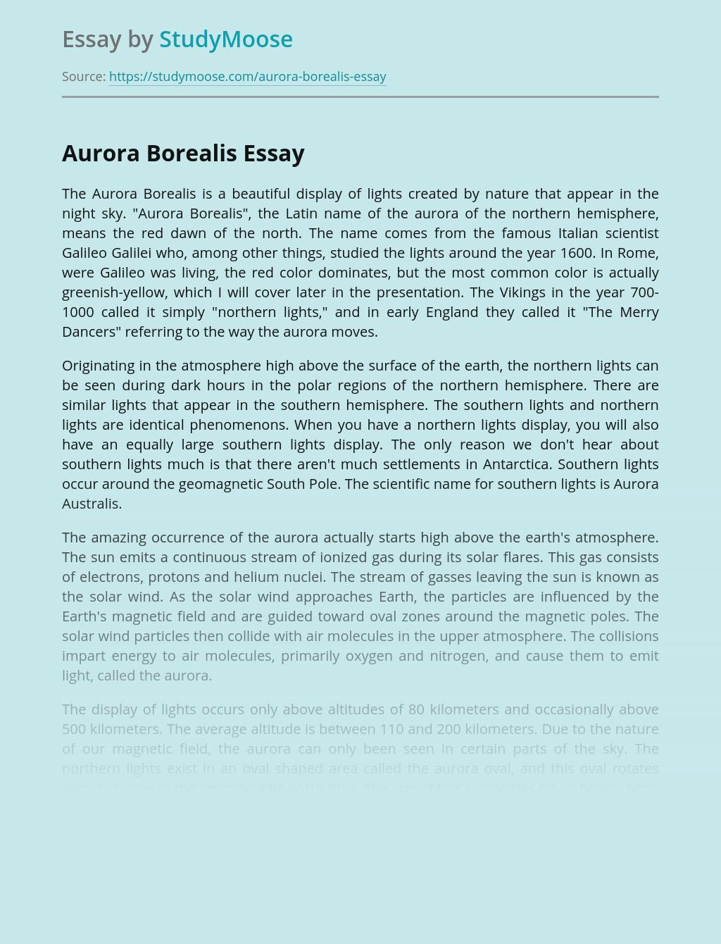 Aurora Borealis in the Upper Atmosphere