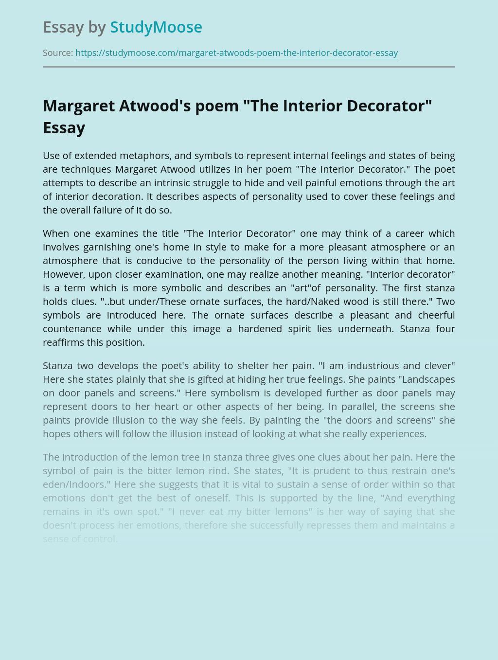Margaret Atwood's poem