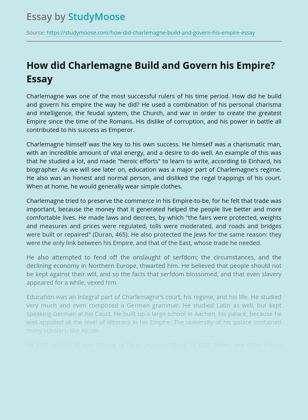 How did Charlemagne Build and Govern his Empire?
