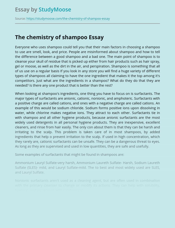 The chemistry of shampoo