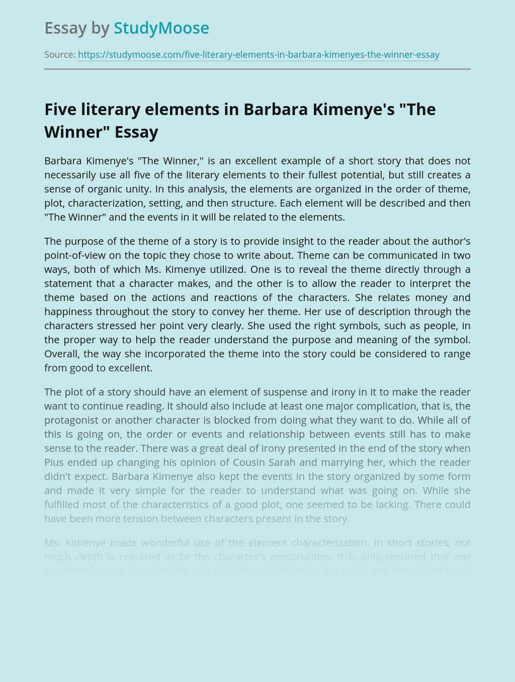 Five literary elements in Barbara Kimenye's