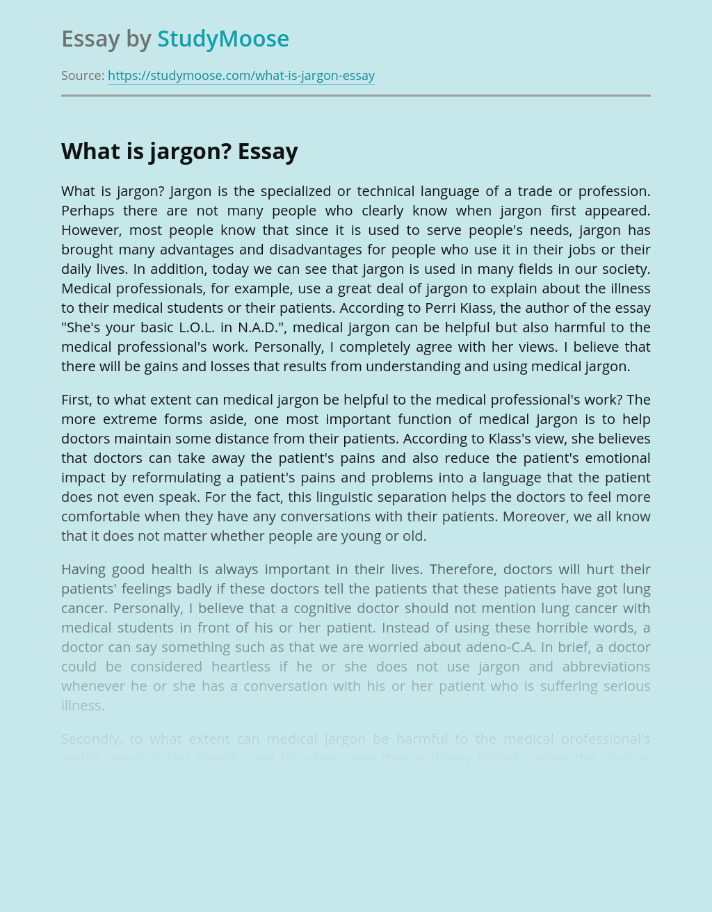 What Is Jargon?