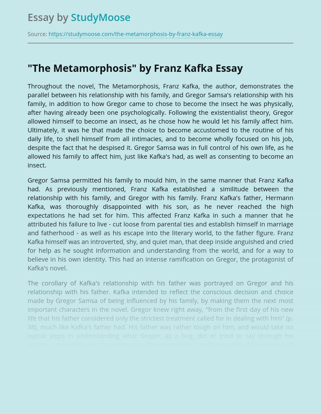 """The Metamorphosis"" by Franz Kafka: Origins and Parallels"