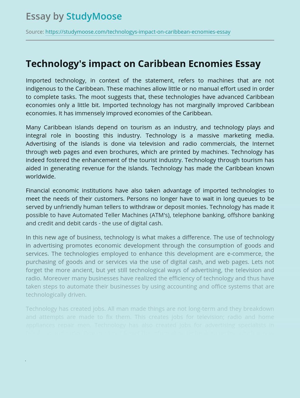 Technology's impact on Caribbean Ecnomies