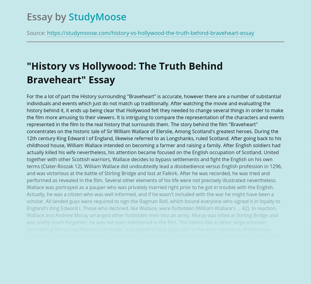"""""""History vs Hollywood: The Truth Behind Braveheart"""""""