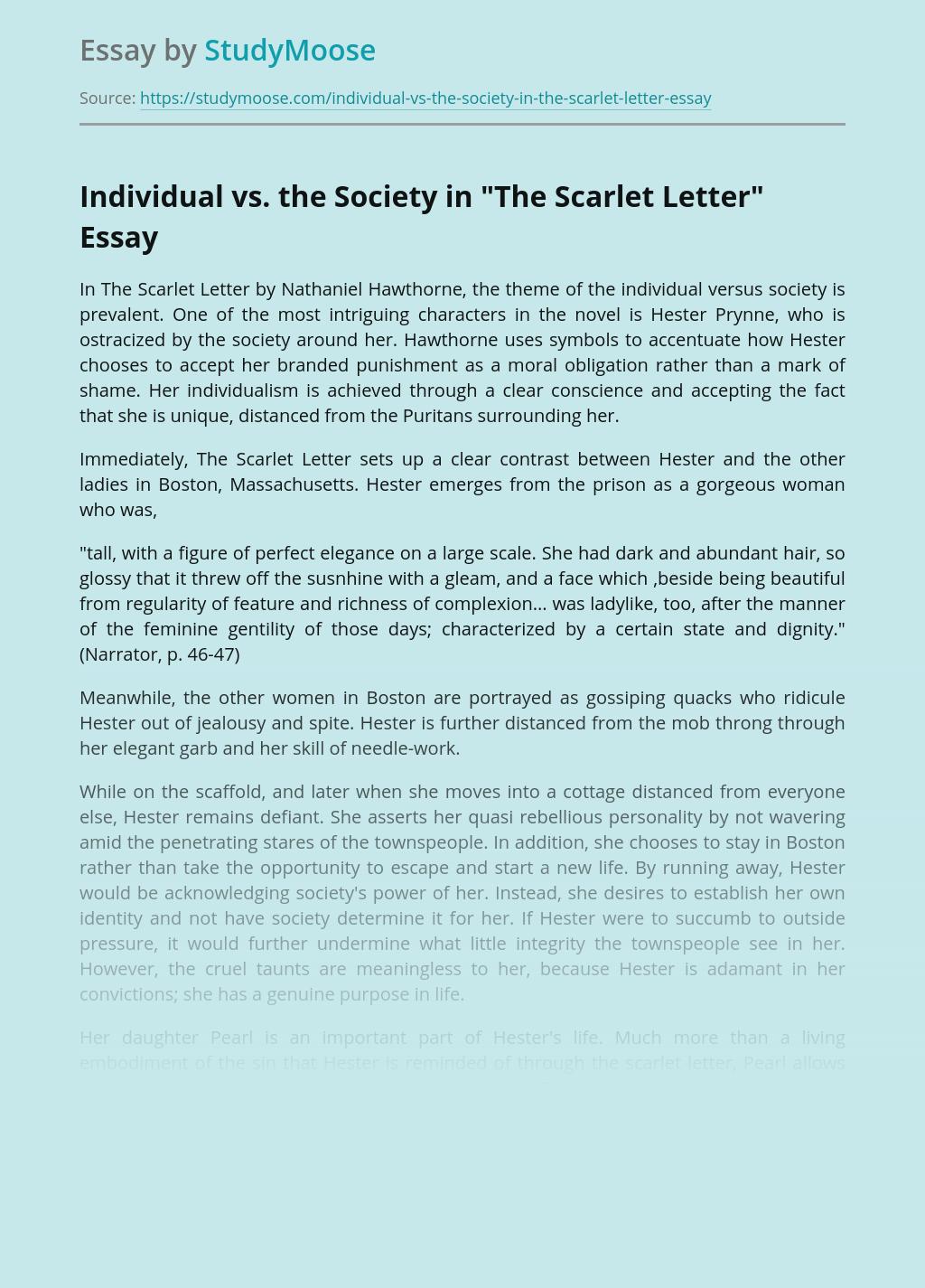 Individual vs. the Society in