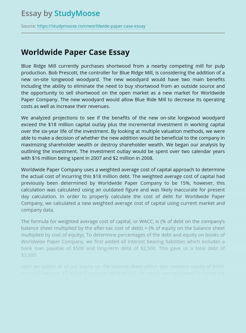 Worldwide Paper Case