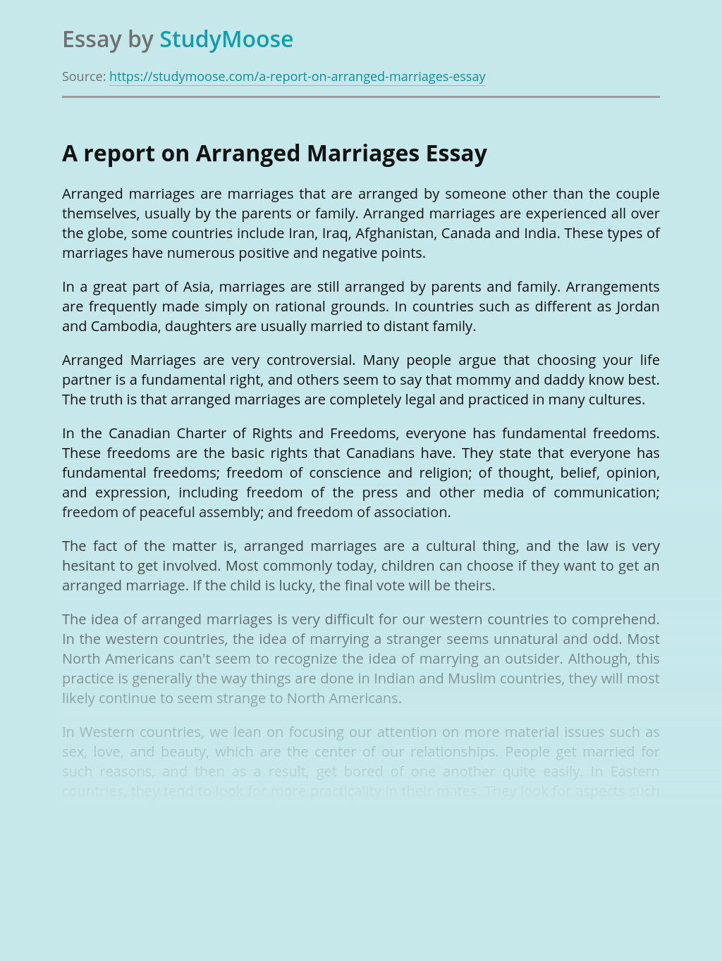Discursive essays on arranged marriages dissertations on ai