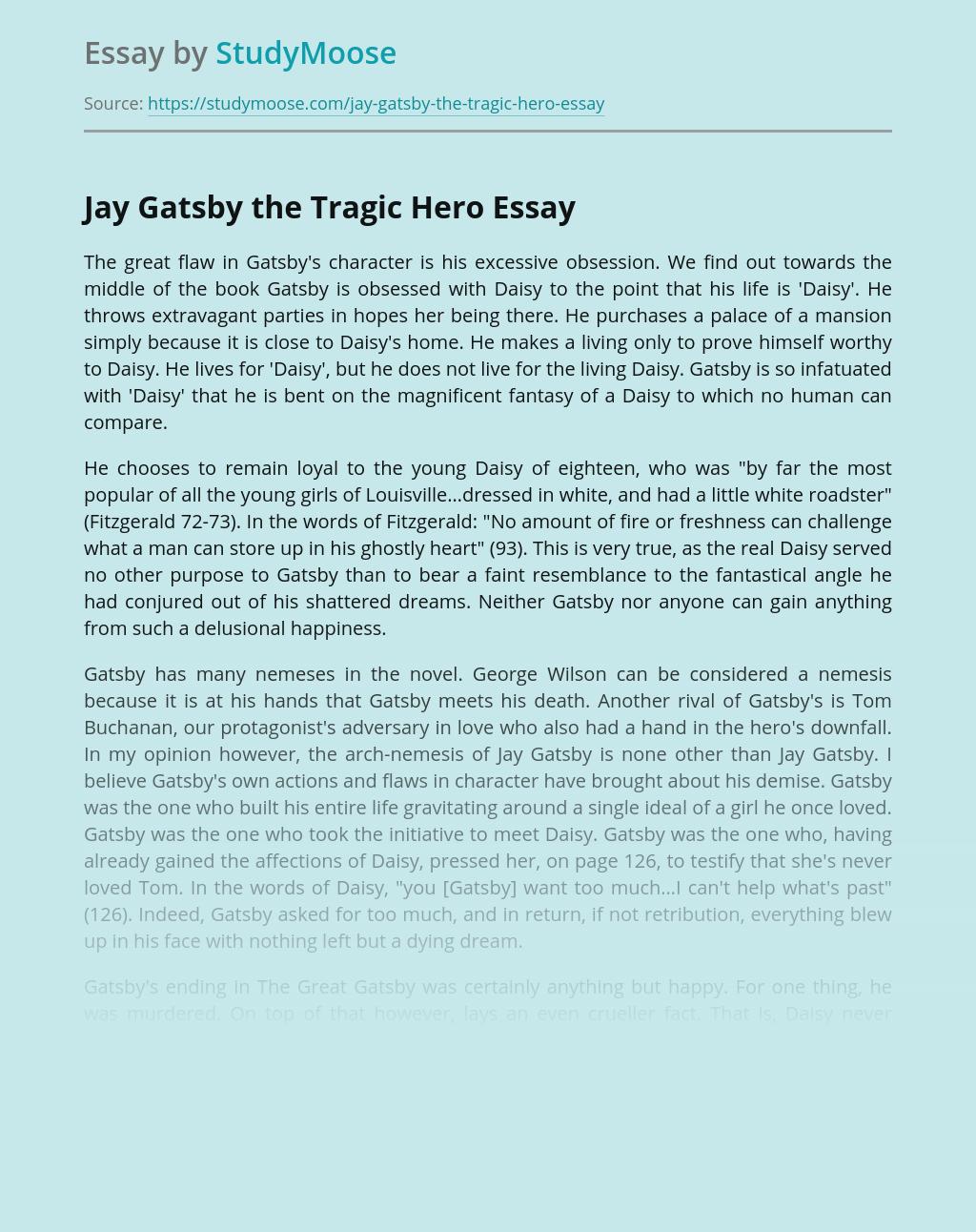 Jay Gatsby the Tragic Hero