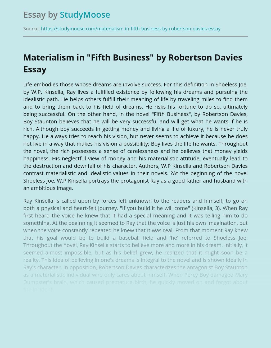 Materialism in
