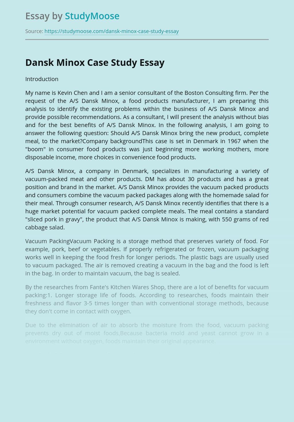 Dansk Minox Case Study