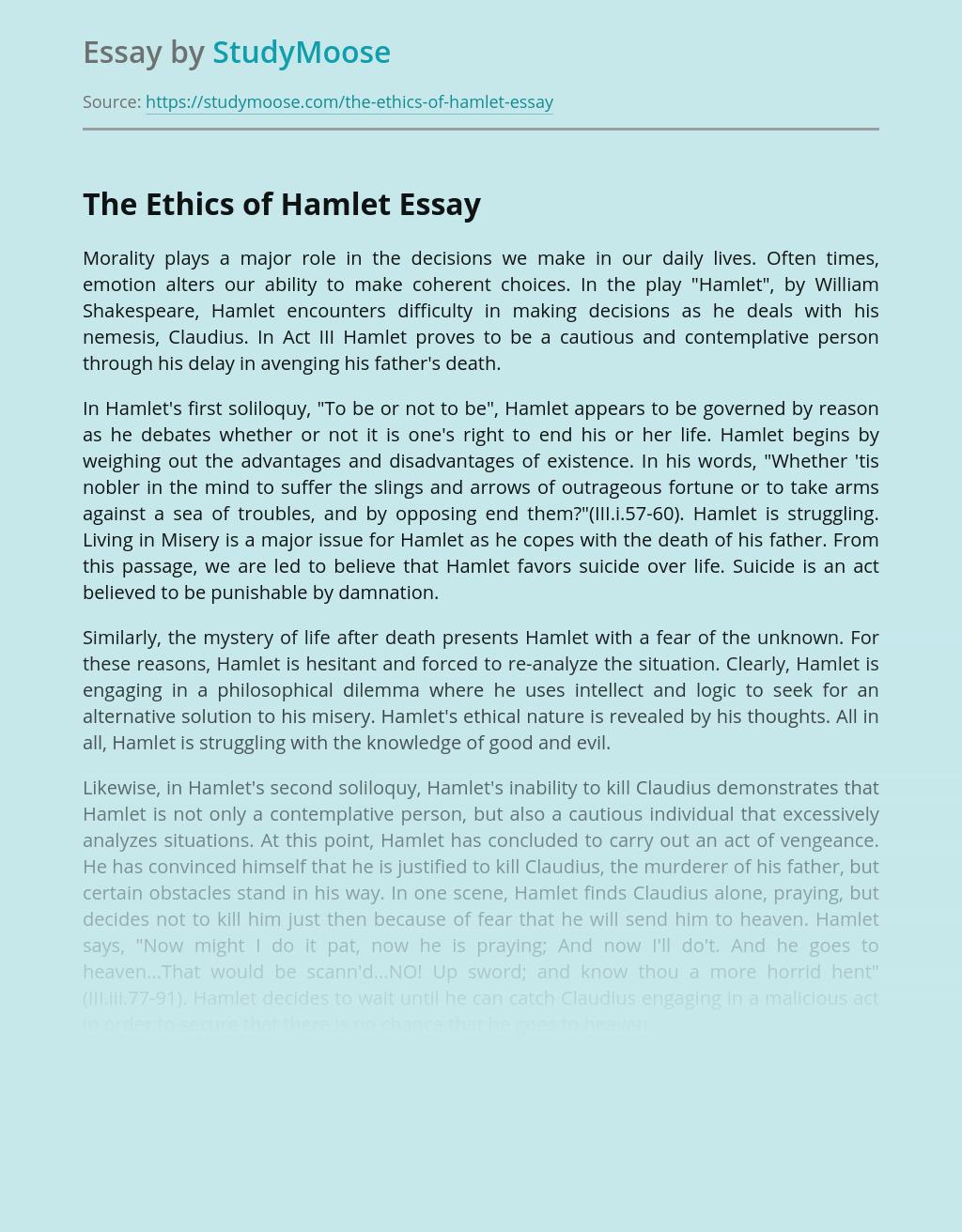 The Ethics of Hamlet