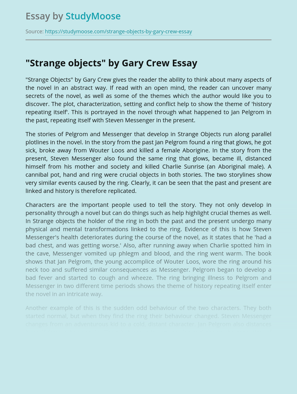 """Strange Objects"" by Gary Crew"
