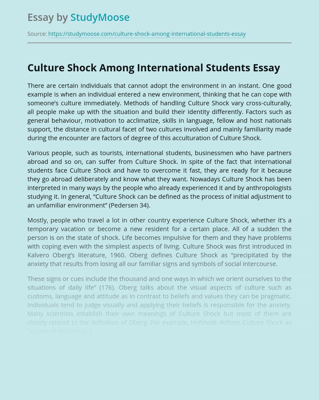 Culture Shock Among International Students