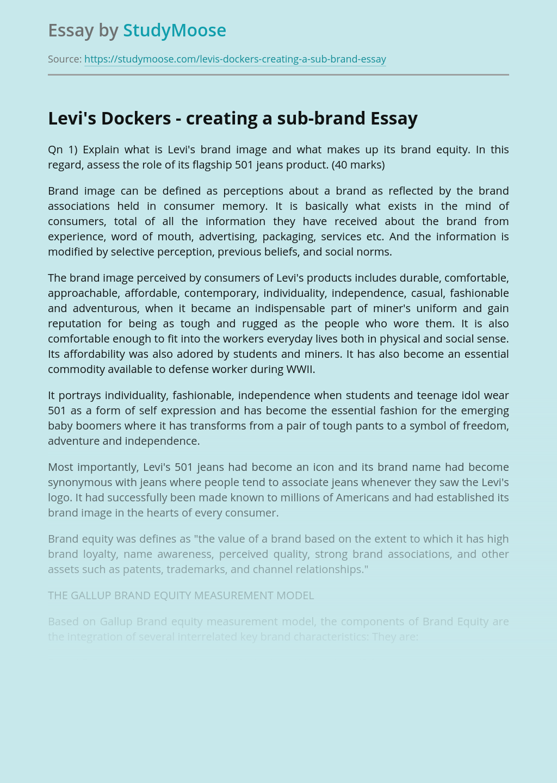 Levi's Dockers - Creating a Sub-Brand