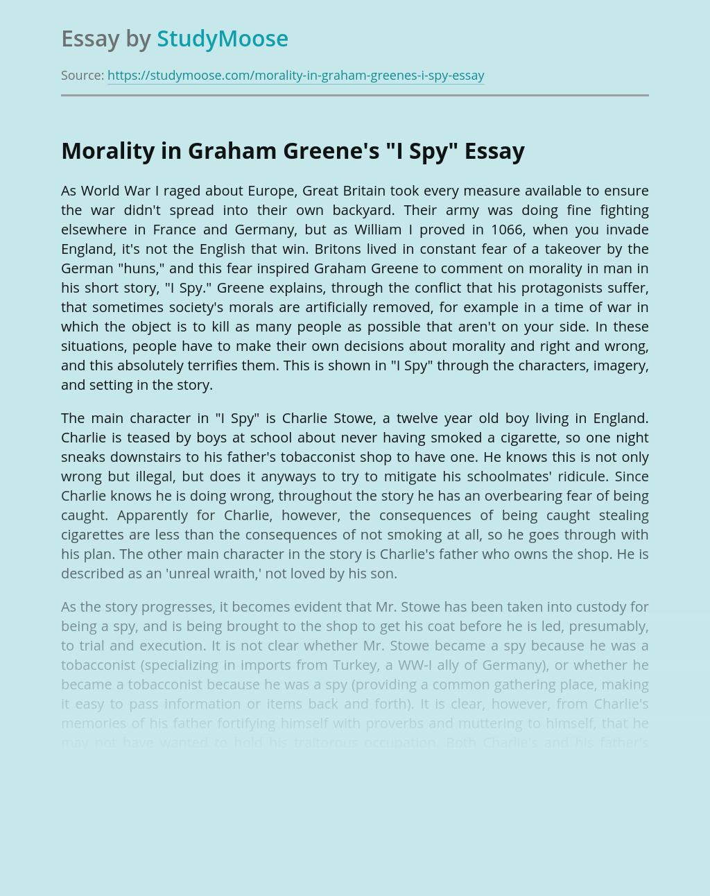 Morality in Graham Greene's