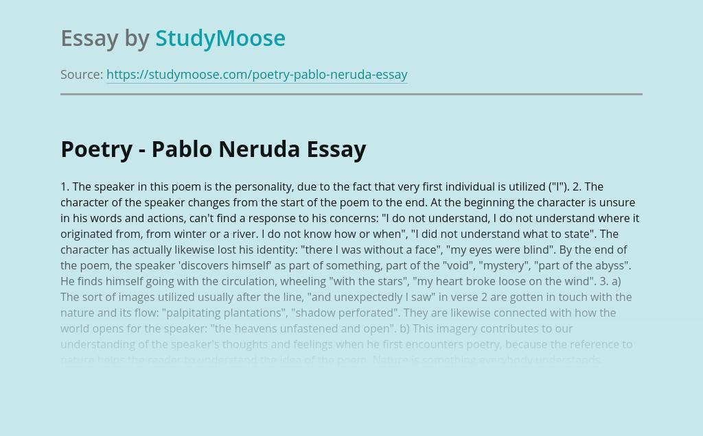 Poetry - Pablo Neruda