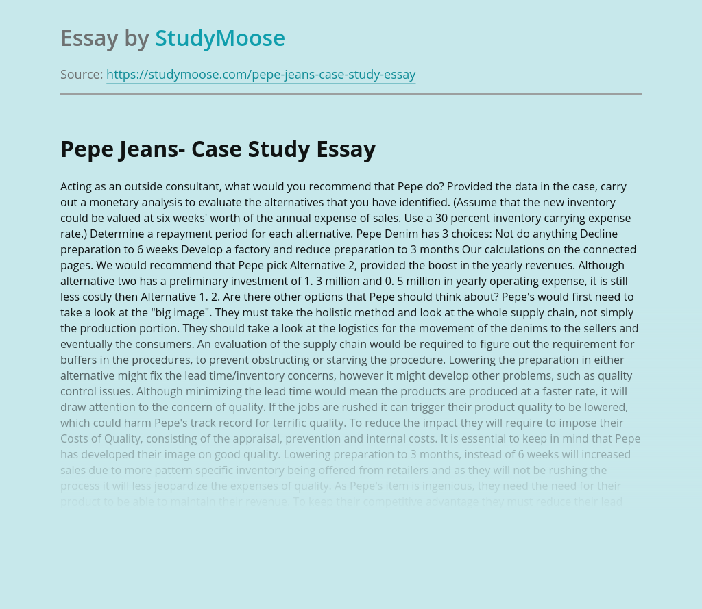 Pepe Jeans- Case Study