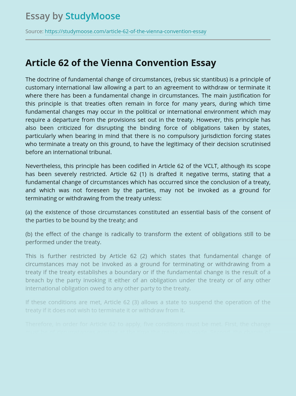 Article 62 of the Vienna Convention